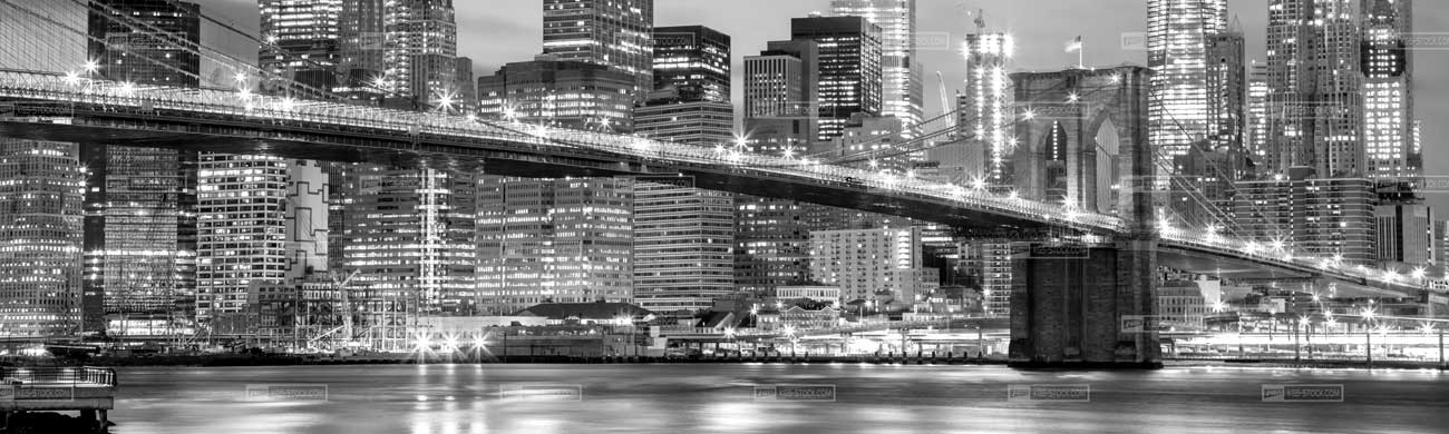 Splashbacks Glass design - Brooklyn bridge in Black and white  - 100107 Image