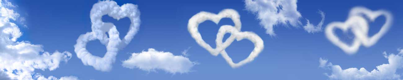 Splashbacks Glass design - Cloud hearts in the sky - 100736