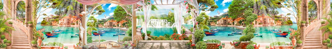 Splashbacks Glass design - Heaven garden - 100738 Image