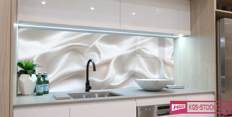 Splashbacks Glass design - White velvet - 100739