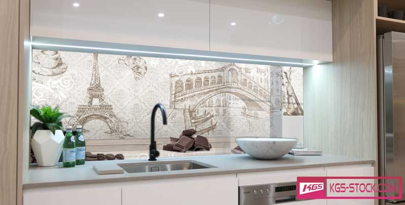 Splashbacks Glass design - Coffee and Chocolate - 100702