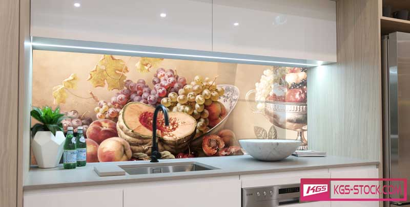 Splashbacks Glass design - Art of fruits - 100704