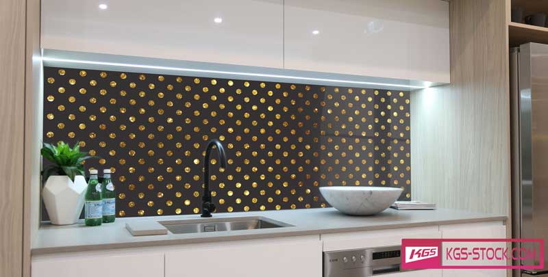 Splashbacks Glass design - Golden diamond rain - 100719