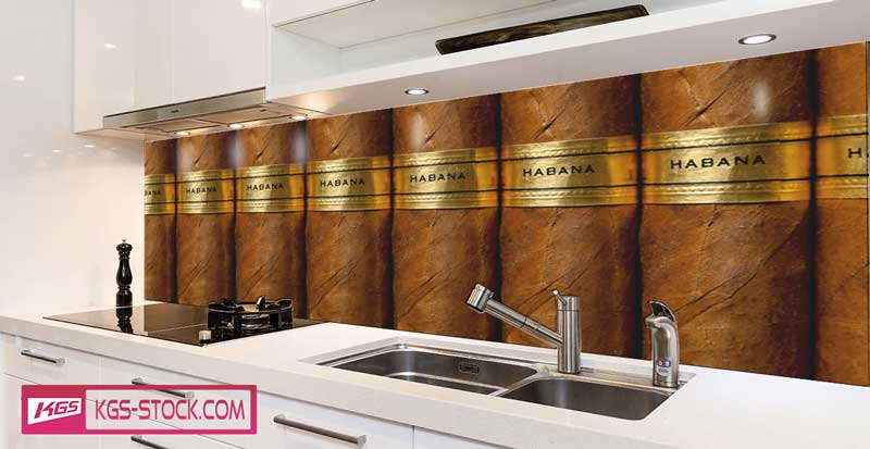 Splashbacks Glass design - Havana cigar - 100721