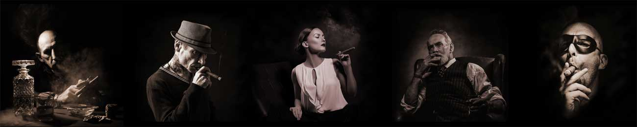 Дизайн для скинали - Cigar smokers in the dark - 100723 Image