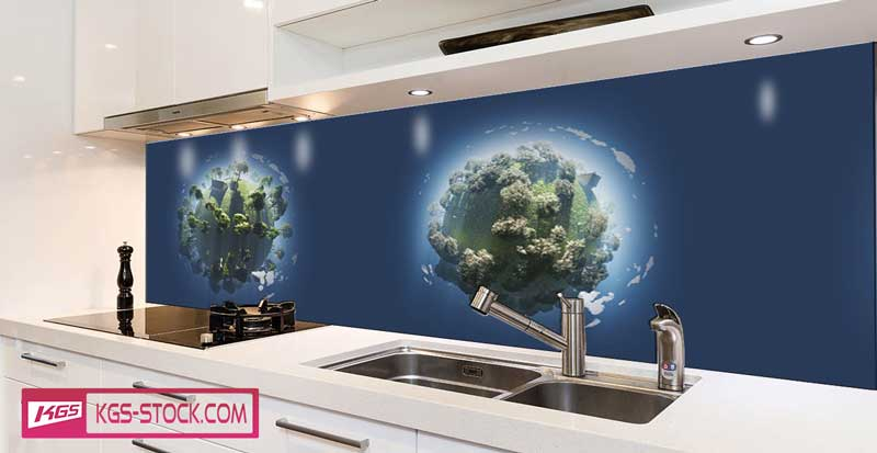 Splashbacks Glass design - Tiny small planets - 100732