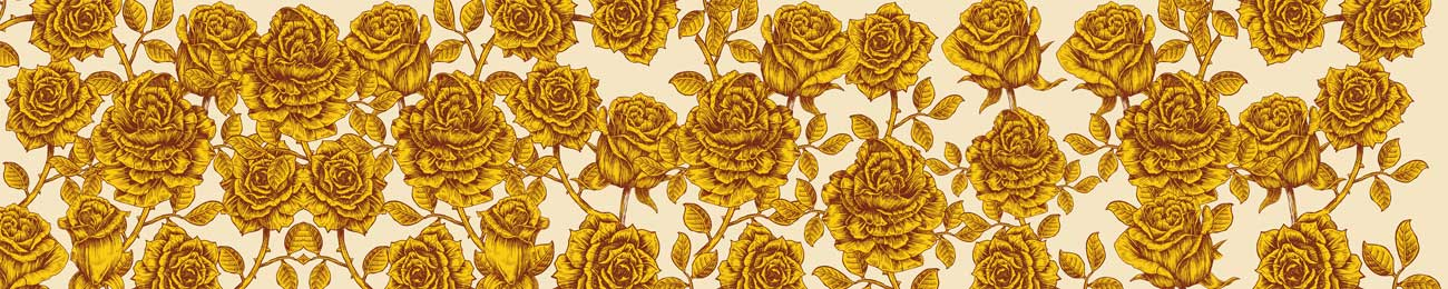 Splashbacks Glass design - Yellow roses - 100536