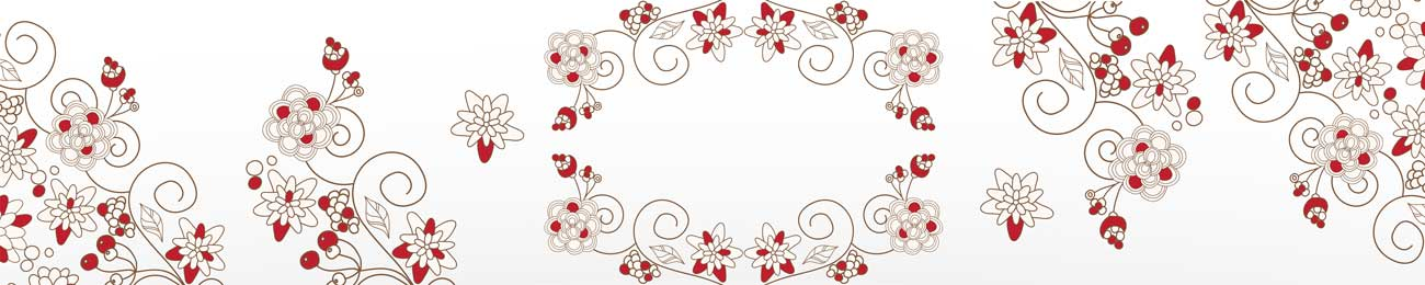 Splashbacks Glass design - Red beautiful flowers - 100539 Image