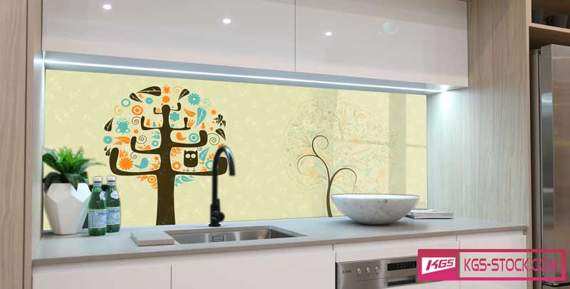Splashbacks Glass design - Trees with colorful leaves - 100427