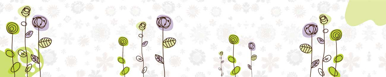 Splashbacks Glass design - Drawn flowers - 100546 Image