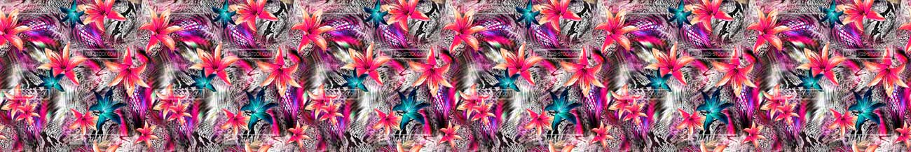 Splashbacks Glass design - Painted flowers - 100514 Image