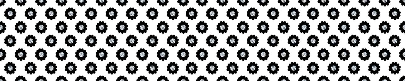 Splashbacks Glass design - Black flowers and Diamonds - 100516 Image