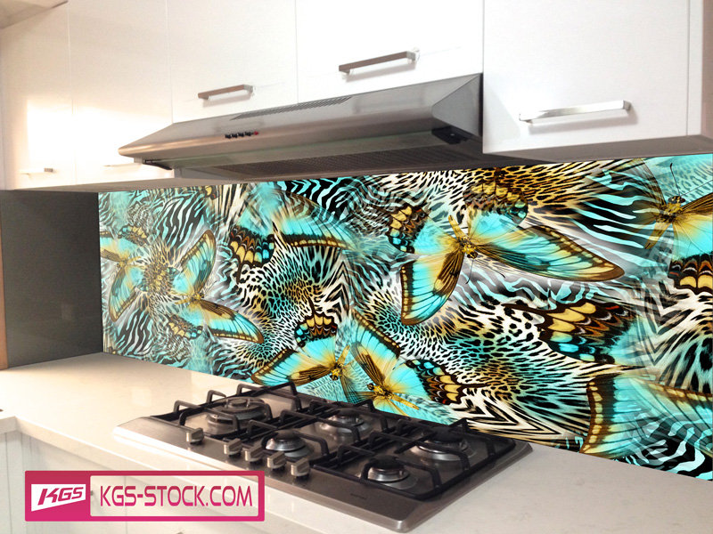 Splashbacks Glass design - Butterflies - 100403