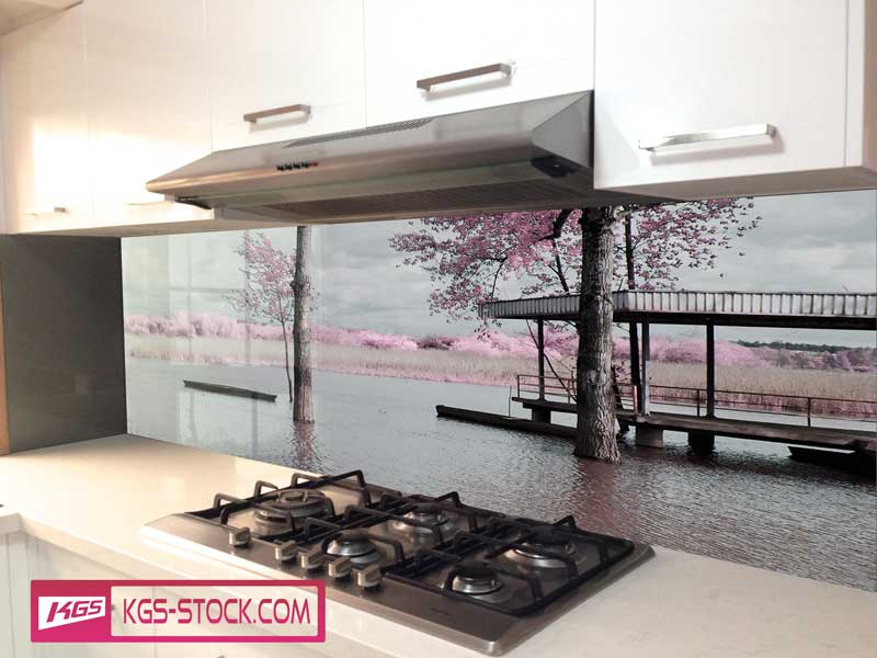 Splashbacks Glass design - Autumn trees - 100410