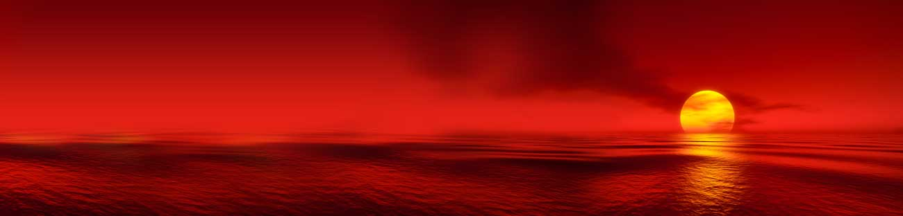 Splashbacks Glass design - Red sky and Sundown in ocean - 100416