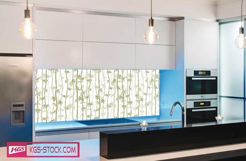 Splashbacks Glass design - Bamboo tree forest - 100426
