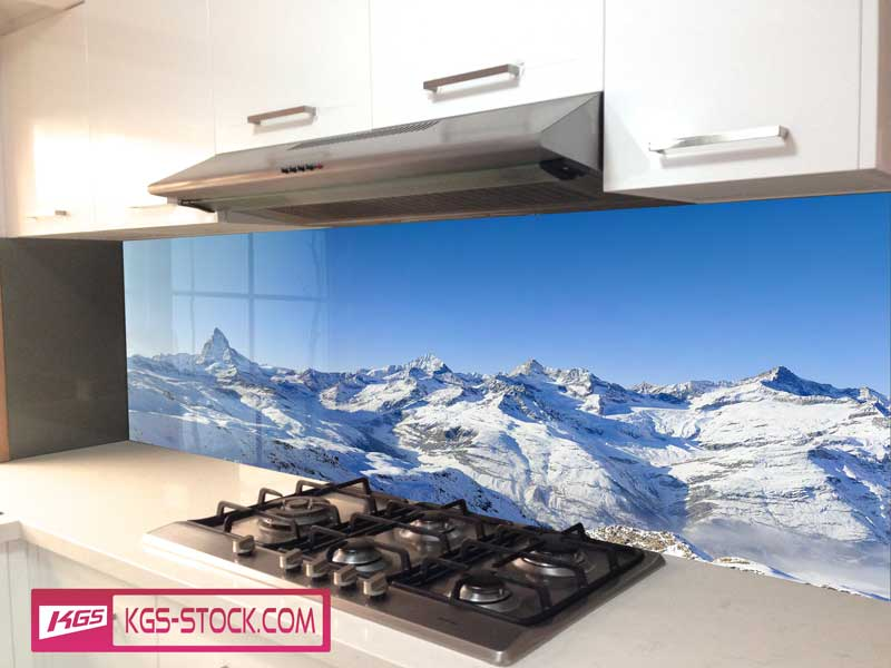 Splashbacks Glass design - Amazing mountains  - 100428