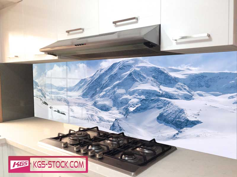 Splashbacks Glass design - Snow head Mountains  - 100433