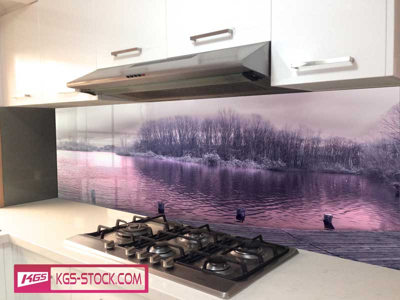 Splashbacks Glass design - Winter day at the lake  - 100436