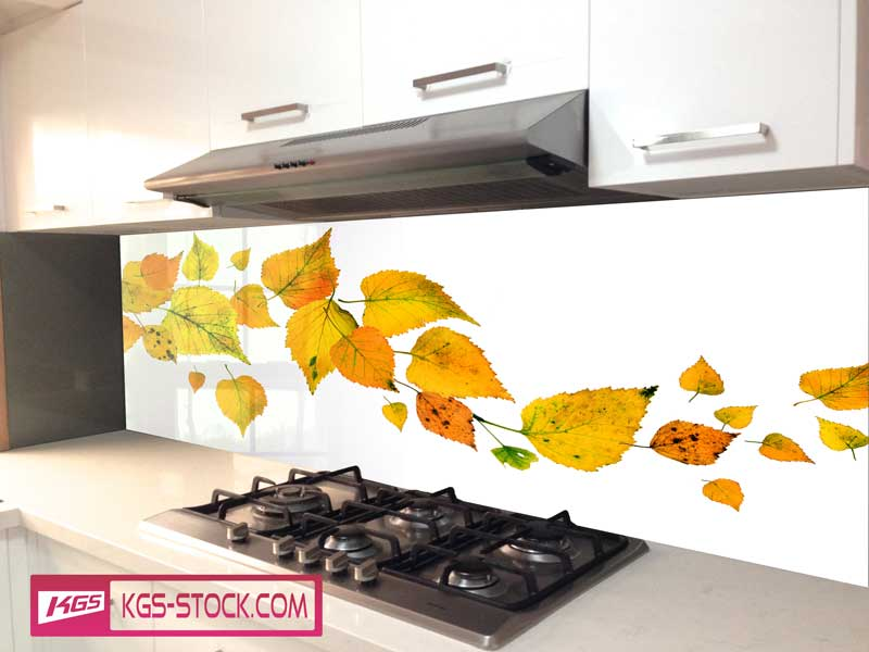 Splashbacks Glass design - Autumn yellow leaves  - 100437